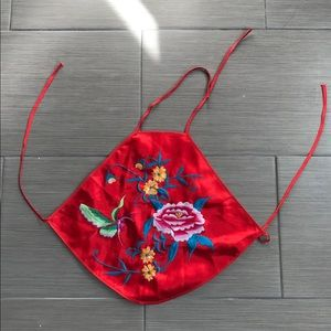 Chinese embroidery halter top